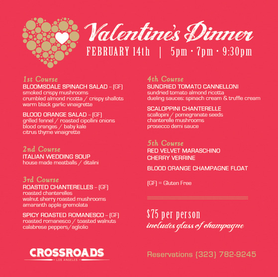 A very vegan valentine s day in los angeles sapling vegan for Crossroads kitchen menu